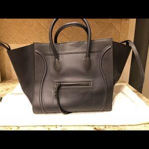 LARGE Authentic Celine Phantom Luggage Dark Grey